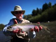 Nice September Rainbow trout,