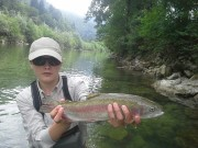 July Rainbow trout