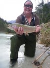 Niki and Rainbow trout April