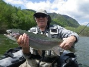 David and Rainbow trout boat