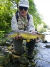 Peter and dry fly Marble trout May
