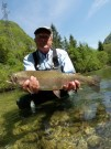 Bill and trophy Rainbow trout May