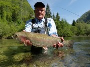 Bill and trophy May Rainbow trout